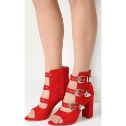 Sandały damskie: Czerwone Sandały Got A Perfect Look