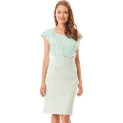 Sukienki hiszpanki: Sukienka w kolorze jasnozielonym