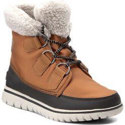 Śniegowce SOREL - Cozy Carnival NL2297 Carmel/Black 273. Brązowe buty zimowe damskie Sorel, z gumy. W wyprzedaży za 319,00 zł.