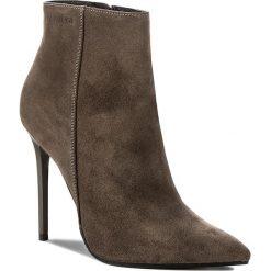 Botki EVA MINGE - Maribel 17BD1372198EF 803. Zielone buty zimowe damskie marki Eva Minge, z materiału, na obcasie. W wyprzedaży za 289,00 zł.
