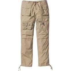 Bojówki męskie: Spodnie bojówki Loose Fit bonprix beżowy