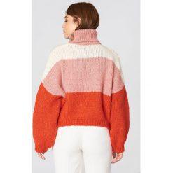 Trendyol Sweter w kontrastowych kolorach - Multicolor. Szare swetry oversize damskie Trendyol, z dzianiny. Za 146,95 zł.