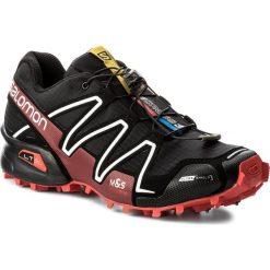 Buty SALOMON - Spikecross 3 Cs 383154 27 G0 Black/Radiant Red/White. Szare buty sportowe męskie marki Salomon, z gore-texu, na sznurówki, outdoorowe, gore-tex. W wyprzedaży za 489,00 zł.