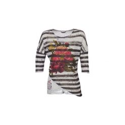 T-shirty z długim rękawem Desigual  ZHERO. Szare t-shirty damskie marki Desigual, l, z tkaniny, casualowe, z długim rękawem. Za 181,30 zł.