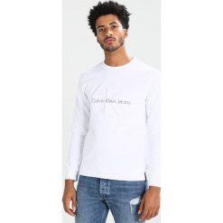 Calvin Klein Jeans HASTO SLIM FIT Bluza white. Białe kardigany męskie marki Calvin Klein Jeans, m, z bawełny. W wyprzedaży za 359,20 zł.