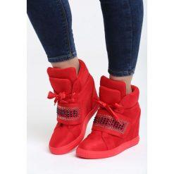 Czerwone Sneakersy Stop Me Now. Czerwone sneakersy damskie Born2be, z materiału. Za 119,99 zł.