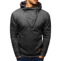 Bluzy męskie: Bluza męska z kapturem antracytowa (bx1602)