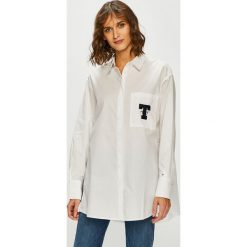 Tommy Jeans - Koszula. Szare koszule jeansowe damskie marki Tommy Jeans, l, klasyczne, z klasycznym kołnierzykiem, z długim rękawem. Za 449,90 zł.