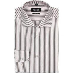 Koszula spello 2046 długi rękaw slim fit bordo. Czerwone koszule męskie slim Recman, m, w paski, z bawełny, z włoskim kołnierzykiem, z długim rękawem. Za 29,99 zł.