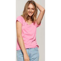 T-shirt basic - Różowy. Czerwone t-shirty męskie marki House, l. Za 17,99 zł.