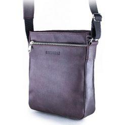 Torba na ramię saszetka BRODRENE ciemny brąz. Czarne torby na ramię męskie marki Brødrene, w paski, ze skóry. Za 139,90 zł.
