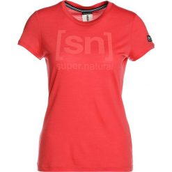 Super.natural ESSENTIAL TEE Tshirt z nadrukiem clove red/blooming. Czerwone t-shirty damskie super.natural, s, z nadrukiem, z materiału. Za 169,00 zł.