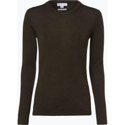 Brookshire - Damski sweter z wełny merino, zielony. Czarne swetry klasyczne damskie marki brookshire, m, w paski, z dżerseju. Za 179,95 zł.