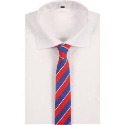 Krawaty męskie: VON FLOERKE STREIFEN Krawat blau/weiß/rot