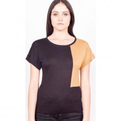 Sweter jedwabny w kolorze czarno-karmelowym. Brązowe swetry klasyczne damskie marki Ateliers de la Maille, z jedwabiu. W wyprzedaży za 272,95 zł.