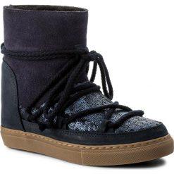 Buty INUIKII - Sneaker Wedge Sequin 30110  Blue. Niebieskie buty zimowe damskie Inuikii, z materiału. W wyprzedaży za 639,00 zł.