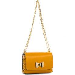 Torebka CREOLE - K10516  Żółty. Żółte torebki klasyczne damskie Creole, ze skóry, bez dodatków. W wyprzedaży za 169,00 zł.