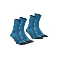 Skarpetki turystyczne długie 2 pary Forclaz 500. Niebieskie skarpetki męskie marki QUECHUA, z bawełny. Za 44,99 zł.