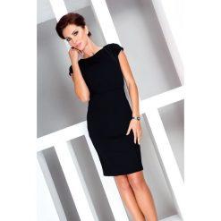 Alice Elegancka sukienka z krótkim rękawkiem - czarna. Czarne sukienki balowe numoco, s, z materiału, z krótkim rękawem, mini. Za 76,26 zł.