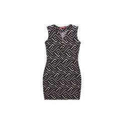 Sukienki hiszpanki: Sukienka damska luźna, taliowana we wzory, z zamkiem