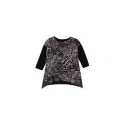 Bluzki asymetryczne: bluzka damska luźna we wzory