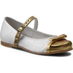 Baleriny ZARRO - 40/03 Biały Złoty. Białe baleriny dziewczęce marki Zarro, ze skóry ekologicznej. W wyprzedaży za 99,00 zł.