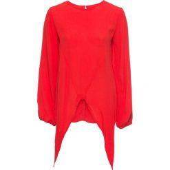 Bluzki damskie: Bluzka z przewiązaniem i wycięciami bonprix truskawkowy