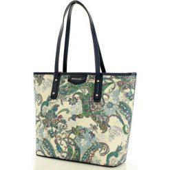 MONNARI Niezwykła torebka shopper bag z orientalnym wzorem granatowy. Niebieskie shopper bag damskie marki Monnari, ze skóry, na ramię. Za 179,00 zł.