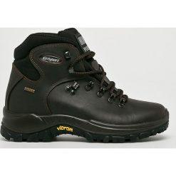 Grisport - Buty. Czarne buty trekkingowe męskie Grisport, na zimę, z materiału, na sznurówki, outdoorowe. Za 439,90 zł.