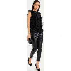 Bluzki asymetryczne: Endless Rose RUFFLED SLEEVELESS FEATHER  Bluzka black combo