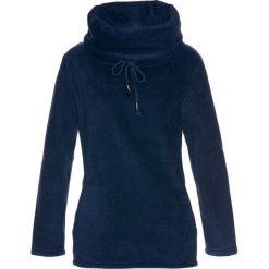 Sweter z polaru bonprix ciemnoniebieski. Niebieskie swetry klasyczne damskie marki ARTENGO, z elastanu, ze stójką. Za 74,99 zł.