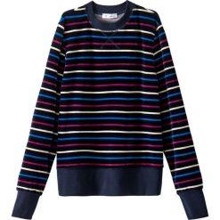 Bluzy rozpinane damskie: Bluza z weluru w paski