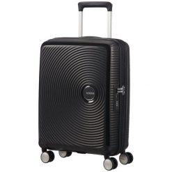 American Tourister Walizka Soundbox 55, Black. Czarne walizki marki American Tourister. W wyprzedaży za 449,00 zł.