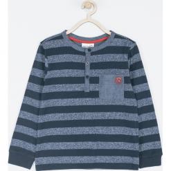 Koszulka. Szare t-shirty chłopięce z długim rękawem COOL, z aplikacjami, z bawełny. Za 49,90 zł.