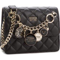 Torebka GUESS - HWVG71 07780 BLA. Czarne torebki klasyczne damskie Guess, z aplikacjami, ze skóry ekologicznej. Za 449,00 zł.