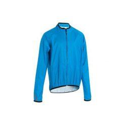 Kurtka przeciwdeszczowa na rower dla dzieci. Niebieskie kurtki dziewczęce przeciwdeszczowe B'TWIN. Za 49,99 zł.