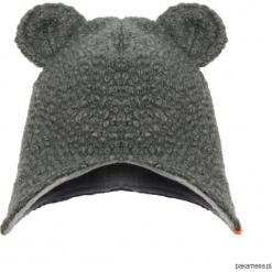 Czapka zimowa z zakrywająca uszy - popiel. Szare czapeczki niemowlęce marki Pakamera, na zimę, z polaru. Za 79,00 zł.