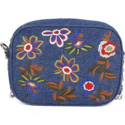 Torebki i plecaki damskie: Kosmetyczka w kolorze niebieskim ze wzorem – 19 x 14 cm