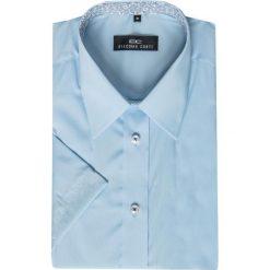 Koszula FABIO 15-01-22. Brązowe koszule męskie na spinki marki QUECHUA, m, z elastanu, z krótkim rękawem. Za 199,00 zł.