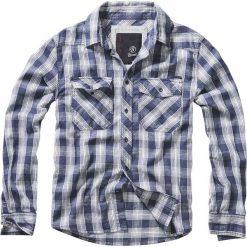 Brandit Great Greek Koszula niebieski/stara biel. Białe koszule męskie marki Brandit, l, z aplikacjami, z bawełny, z długim rękawem. Za 62,90 zł.