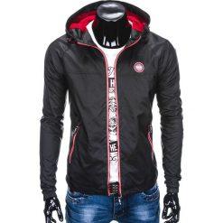 KURTKA MĘSKA PRZEJŚCIOWA C352 - CZARNA. Czarne kurtki męskie przejściowe Ombre Clothing, m, z poliesteru. Za 89,00 zł.