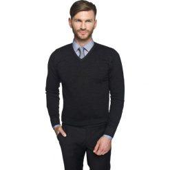 Swetry klasyczne męskie: sweter marlow w serek czarny