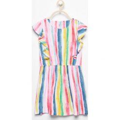 Sukienka w paski - Wielobarwn. Szare sukienki dziewczęce marki Reserved, w paski. Za 139,99 zł.