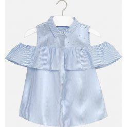 Mayoral - Top dziecięcy 128-167 cm. Różowe bluzki dziewczęce bawełniane marki Mayoral, z okrągłym kołnierzem. Za 129,90 zł.