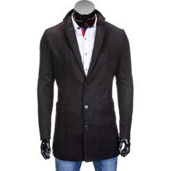 PŁASZCZ MĘSKI C279 - CZARNY. Brązowe płaszcze na zamek męskie marki Cropp, na zimę, l, sportowe. Za 109,00 zł.