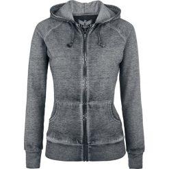Bluzy polarowe: Black Premium by EMP Freaking Out Loud Bluza z kapturem rozpinana damska ciemnoszary