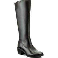 Kozaki LASOCKI - SAXA-01 Czarny. Czarne buty zimowe damskie marki Kazar, ze skóry, na wysokim obcasie. Za 299,99 zł.