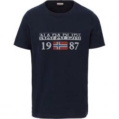 T-SHIRT SOLIN BLUE MARINE. Szare t-shirty męskie marki Napapijri, l, z materiału, z kapturem. Za 127,49 zł.