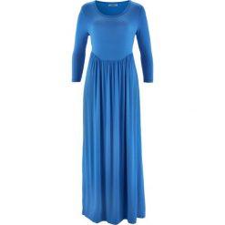 Sukienki: Sukienka shirtowa z rękawami 3/4 bonprix lodowy niebieski