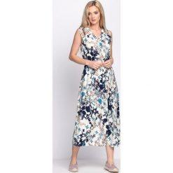 Sukienki: Kremowo-Różowa Sukienka Fashion Source